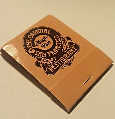 Vintage Matchbook The Original Magic Pan Restaurant ~ San Francisco~ Unused Rare