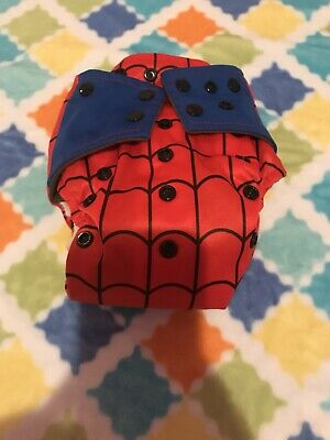 Spider Man Cloth Diaper AIO Bamboo Charcoal With Pocket