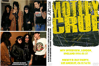Motley Crue 1994 MTV Interview, London, UK + Nikki B-Day Party DVD
