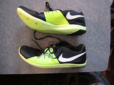 los angeles 6ecb8 b90e5 Nike Zoom Forever XC 5 Men s Size 10 Track Spikes Shoes Black Volt  904723-017