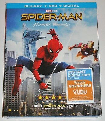 MARVEL Spider-Man: Homecoming (Blu-ray Disc, 2017, 2-Disc Set) NEW