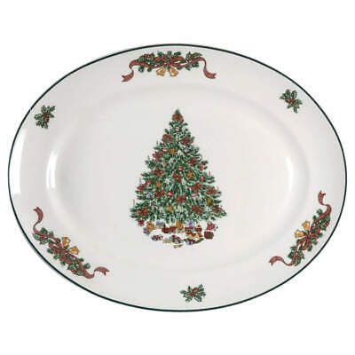 """Johnson Brothers VICTORIAN CHRISTMAS 13 1/2"""" Oval Serving Platter 5928353"""