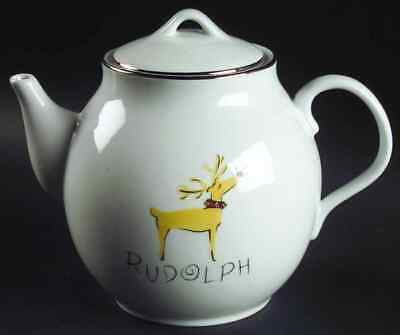 Pottery Barn REINDEER Rudolph Tea Pot 6118046