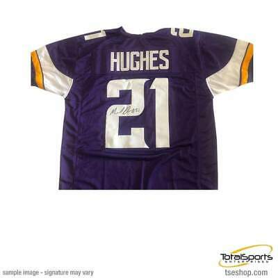 af7679d2be4 Mike Hughes Signed Purple Custom Football Jersey