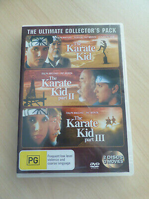 The Karate Kid The Ultimate Collector's Pack 2 Discs/3Movies DVD Region 4