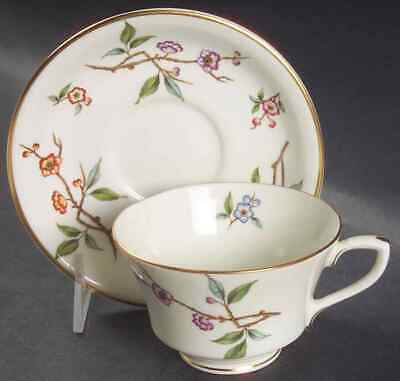 Royal Worcester BLOSSOM TIME Cup & Saucer 634394
