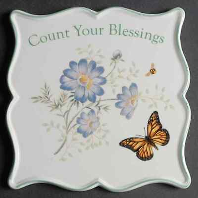 Lenox BUTTERFLY MEADOW Count Your Blessing Trivet 9552635