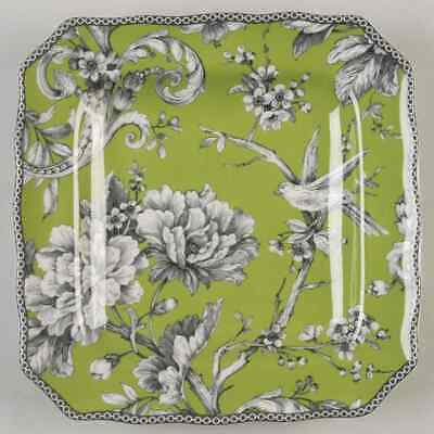 222 Fifth ADELAIDE-GREEN & WHITE Square Salad Plate 8995452