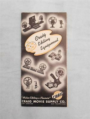 Vintage Craig Movie Supply Co.Mailing Catalog,Editing Equipment, Home Videos,CA