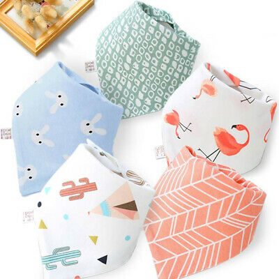 Cute Infant Baby Boy Girl Triangle Bandana Bibs Feed Saliva Towel Dribble Bib