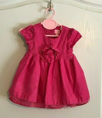 Baby Girls The Childrens Place Pink Spring Dress Flower SZ 9-12 Months Layered