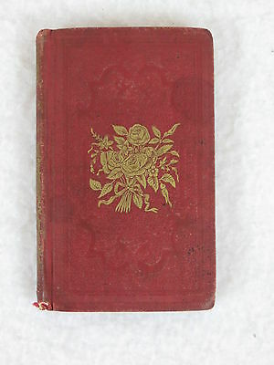 Antique Miniature THE ROSE OF SHARON Gems of Sacred Poetry 4th Ed 1848