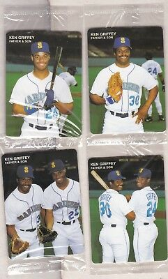 392838417b Complete 1991 Mother's Cookies Ken Griffey Jr Four Card Set New In Package