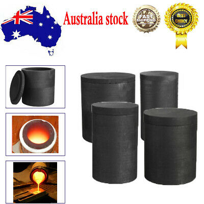 Foundry Graphite Crucibles Cup Furnace Torch Melting Casting Metal Copper AUS