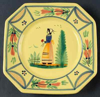 Quimper SOLEIL YELLOW (OCTAGONAL, LADY) Salad Plate 8819363