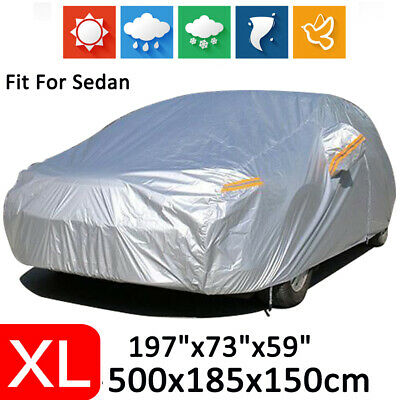 X-Large Full Car Cover Waterproof Dust Scratch Rain Resistant Heat Protection