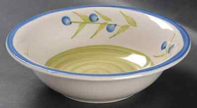 Gibson Designs FLORAL NATALIA GREEN Soup Cereal Bowl 9506116