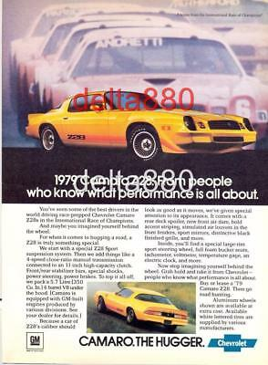 "1979 Chevrolet Camaro Z28 Original Magazine Color Print Ad 8.5"" X 11"" The Hugger"