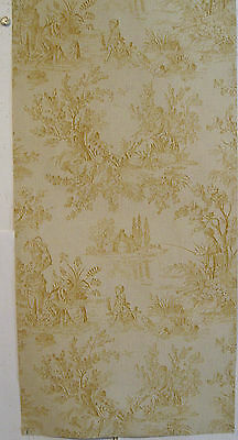 Antique Beautiful 19th C. French Scenic Toile Wallpaper (8926)