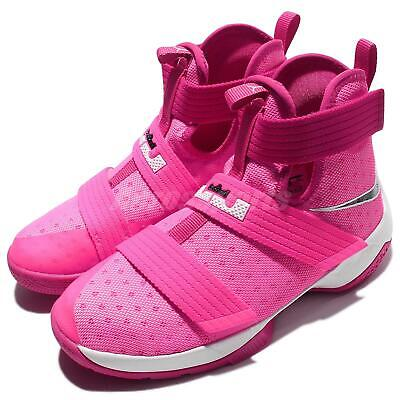 9bf22d74225 Nike Lebron Soldier 10 GS X James Kay Yow Breast Cancer Kid Shoes 845121-606