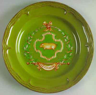 Nikko COUNTRY MARKET SAGE GREEN Pig Luncheon Plate 5647016