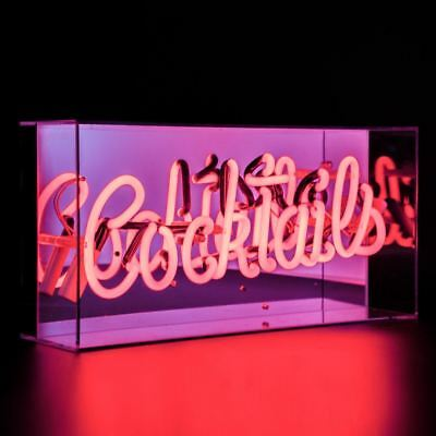 Acrylic Box Neon Light Sign Cocktail Lamp Decor Pub Bar Art Light Up