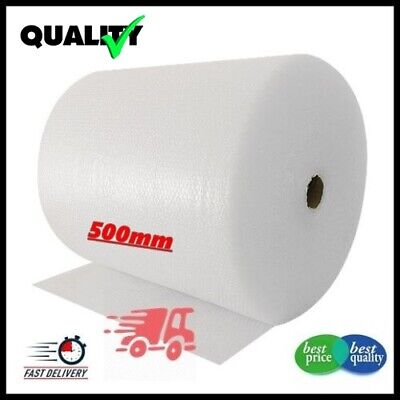 1 ROLL SMALL BUBBLE WRAP ROLL 500mm WIDE x 100 METRES LONG PACKAGING CUSHIONING