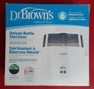 Dr. Brown's Natural Flow Deluxe Bottle Sterilizer New In Box