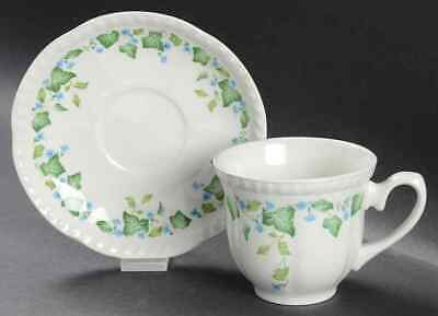 Johnson Brothers VINTAGE (GREEN IVY, BLUE FLOWERS) Cup & Saucer 285169