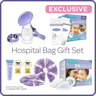 Lansinoh Hospital Bag Gift Set for new Mum Lanolin Breastfeeding Essentials