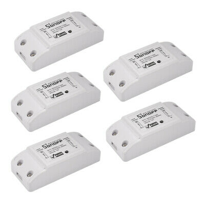 5x Sonoff WiFi Smart Home Switch Module Remote Control Socket Automation HS1159