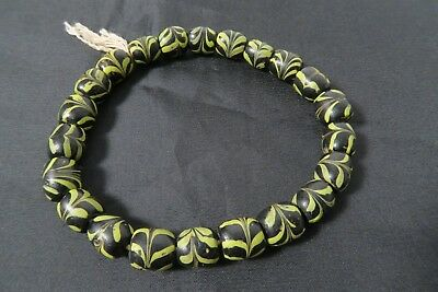 Alte Venezianische Glasperlen Feder AC55 Old Venetian trade Feather beads