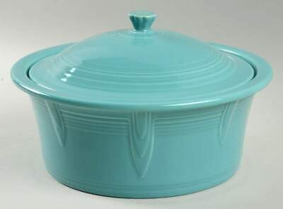 Homer Laughlin FIESTA TURQUOISE 2.5 Quart Round Covered Casserole Dish 10669538