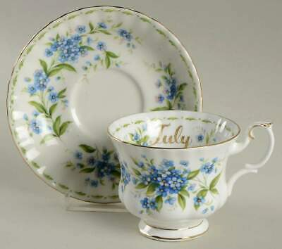 Royal Albert FLOWER OF THE MONTH July Cup & Saucer 6439935