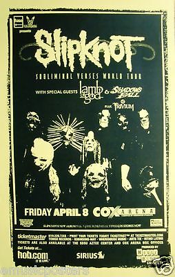 "Slipknot / Lamb Of God / Trivium 2005 ""Subliminal Verses Tour"" Concert Poster"