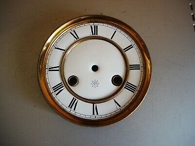 Antique German wall clock JUNGHANS two part Porcelain DIAL Mount Gustav Becker D
