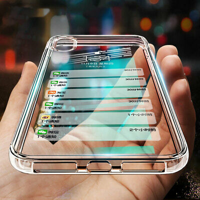 Silicone Case For iPhone XS MAX X XR Cover Shockproof Bumper Protective Clear UK