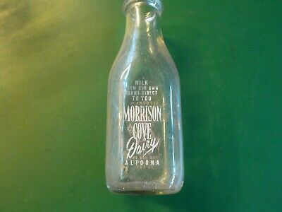 VINTAGE MORRISON COVE Dairy Milk Bottle One Quart - $10 00 | PicClick