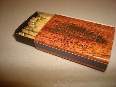 Rare Vintage Match Box Matches The Empress Lilly Lake Buena Vista Florida USA!