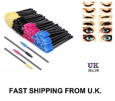 Disposable Mascara Wands Eyelash Brushes Eye Lash Spooler Brush Applicator UK