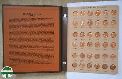 LINCOLN MEMORIAL CENT DANSCO ALBUM WITH UNC & PROOF COINS - 1959 to 2009
