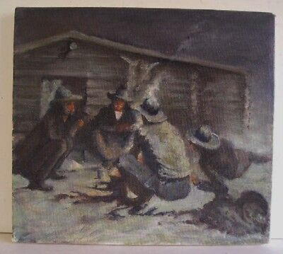 Frederic Remington His Last Painting Oil On Canvas Art Reproduction