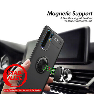 For Huawei P30 Pro Lite Ring Case Slim Hybrid TPU Car Magnetic Stand Covers UK