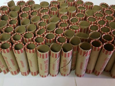 100 PREFORMED PENNIES WRAPPERS PAPER ROLLS -  Preformed Penny - Plus 8 Free!