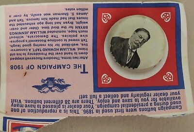 1972 Reproduction 1908 William Howard Taft Campaign Button