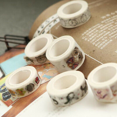 Cartoon Washi Tape Cat Series Hand Book Photo Album DIY Adhesive Tapes LD