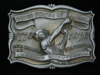 RB01111 VINTAGE 1970s **UNITED STATES OF AMERICA BICENTENNIAL** BELT BUCKLE