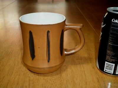 BROWN COLORED [3-D] MARKS, Ceramic Coffee Cup / Mug, VINTAGE # 1960's yrs. JAPAN