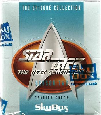 Star Trek TNG Season 2 Trading Cards Sealed Box of 36 Packs Trading Cards