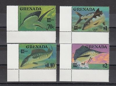 Timbre Stamp 4  Ile Grenade Y&T#1435-38 Poisson Fish Neuf**/Mnh-Mint 1987 ~A88